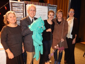 Grant recipient Jan Aiello with puppeeteer Melody Munitz and HHCEF Board members David White, Uta Wussing and Beth Gruber