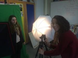 AP Art students using new Art Lab equipment